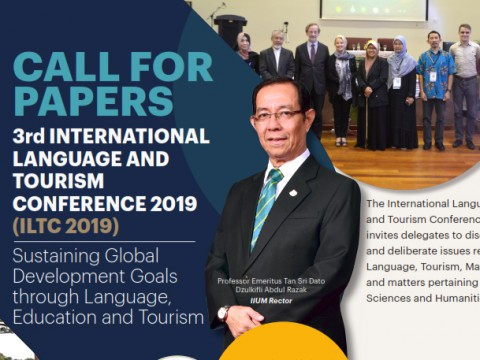 CALL FOR PAPERS 3rd INTERNATIONAL LANGUAGE AND TOURISM CONFERENCE 2019 (ILTC 2019)