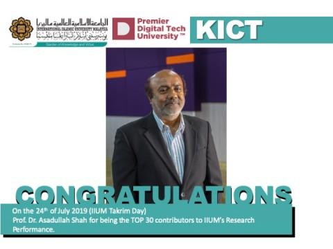 Congratulations - Prof. Dr. Asadullah Shah