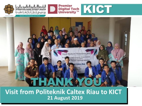 Visit from Politek Caltex Riau to KICT