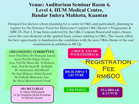 Obstetrics and Gynaecology Assessment Course