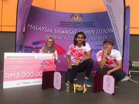 CONGRATULATIONS! 3RD PLACE IN MALAYSIA SISWASAT COMPETITION 2019