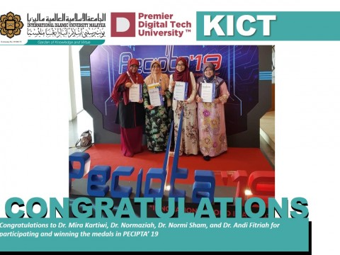 Congratulation to all KICT PENCIPTA2019 Winners!