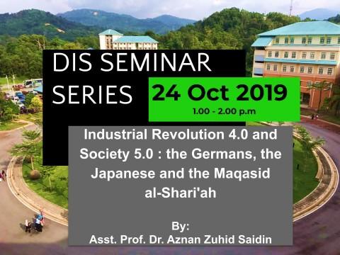 DIS Seminar Series 24 October 2019