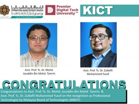 Congratulations Ts. Dr. Izzuddin & Ts. Dr. Zulkefli