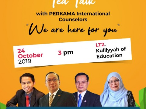 COUNSELlNG MONTH 2019 : TEA TALK