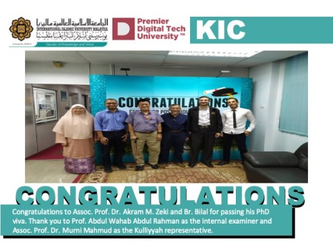 Congratulations to Assoc. Prof. Dr. Akram and Br. Bilal