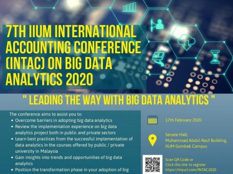 IIUM INTERNATIONAL ACCOUNTING CONFERENCE ON BIG DATA ANALYTICS (INTAC 2020): LEADING THE WAY WITH BIG DATA ANALYTICS