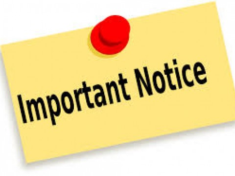 NOTICE OF AMENDMENT FOR END-OF-SEMESTER EXAMINATION ELIGIBILITY STATEMENT (EXAMINATION SLIP)