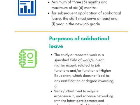 Sabbatical Leave for Academic and Technical Staff (Grade 44 & Above)