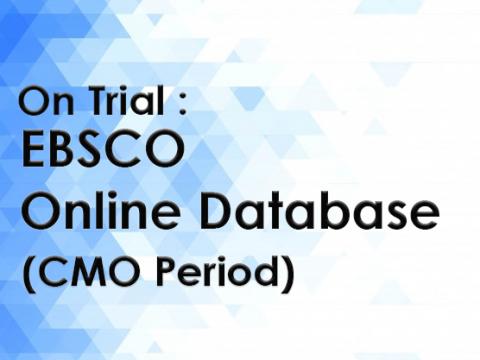 On Trial : EBSCO Online Database on EBSCOHost platform