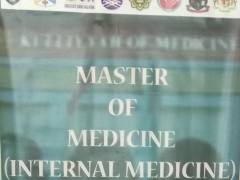MASTER OF MEDICINE (INTERNAL MEDICINE) - PART 1 (CLINICAL) EXAMINATION