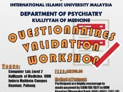 Questionnaires Validation Workshop