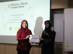 KOP Postgraduate Symposium 2019: 3-MINUTES-THESIS (3MT) COMPETITION
