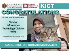 Congratulations to Dr. Norsaremah Bt. Salleh