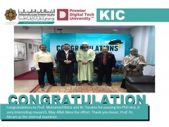 Congratulations to Prof. Mohamed Ridza and Br. Yassine.