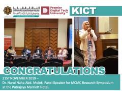 Panel Speaker for MCMC Research Symposium - Dr. Nurul Nuha Abd. Molok