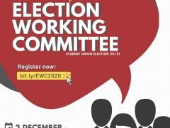 RECRUITMENT OF IIUM STUDENT UNION ELECTION WORKING COMMITTEE