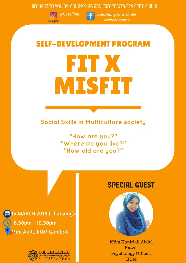 Self-Development Programme : Fit X Misfit