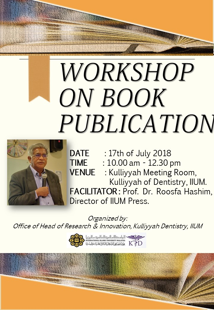 Book Publication Workshop by Director of IIUM Press