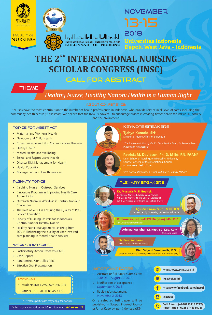 The 2nd International Nursing Scholar Congress (INSC)