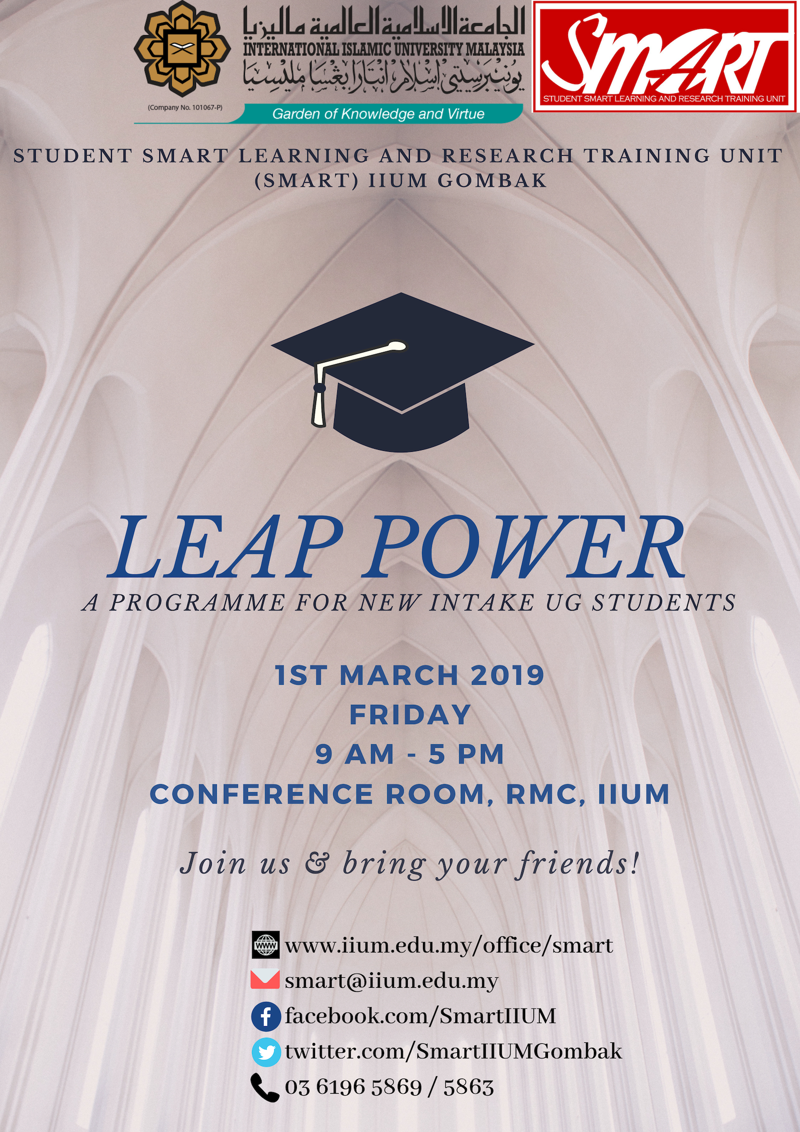 LEAP POWER FOR UG INTAKE, SEM 2 2018/2019