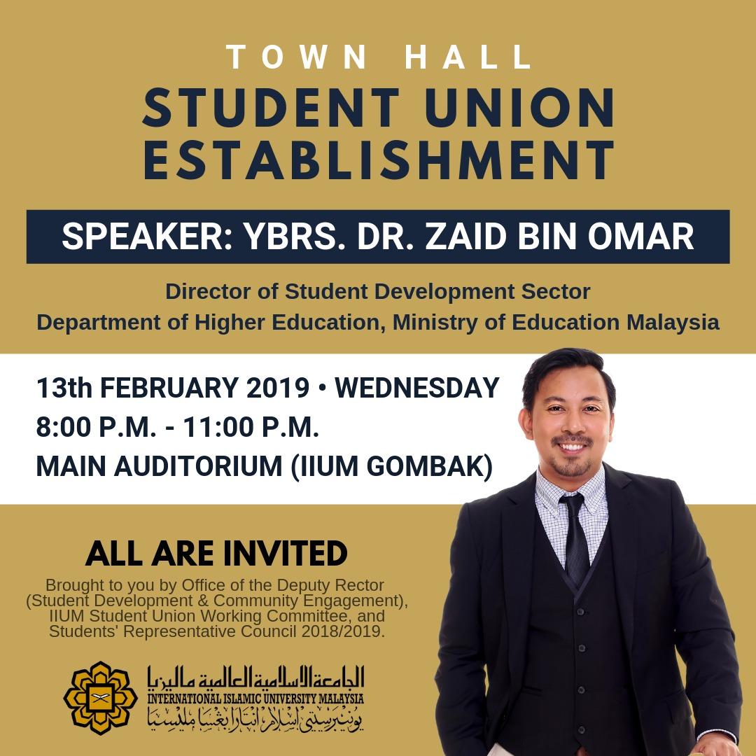 IIUM TOWN HALL : STUDENT UNION