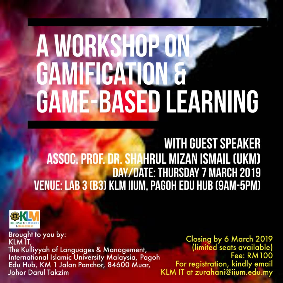 A Workshop on Gamification & Game-Based Learning