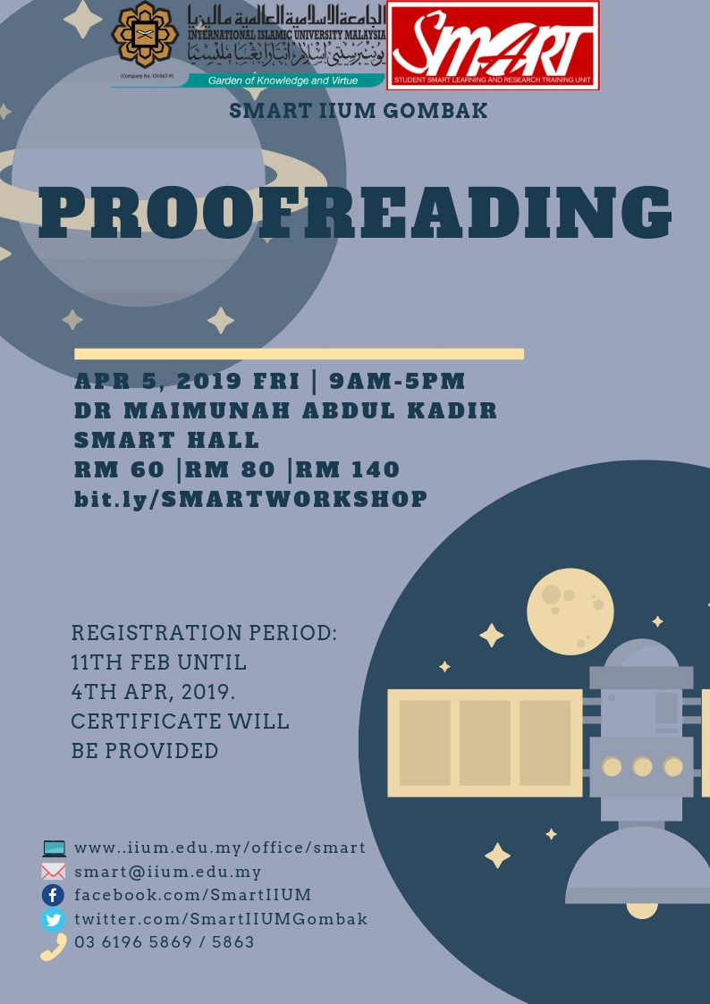 WORKSHOP : PROOFREADING