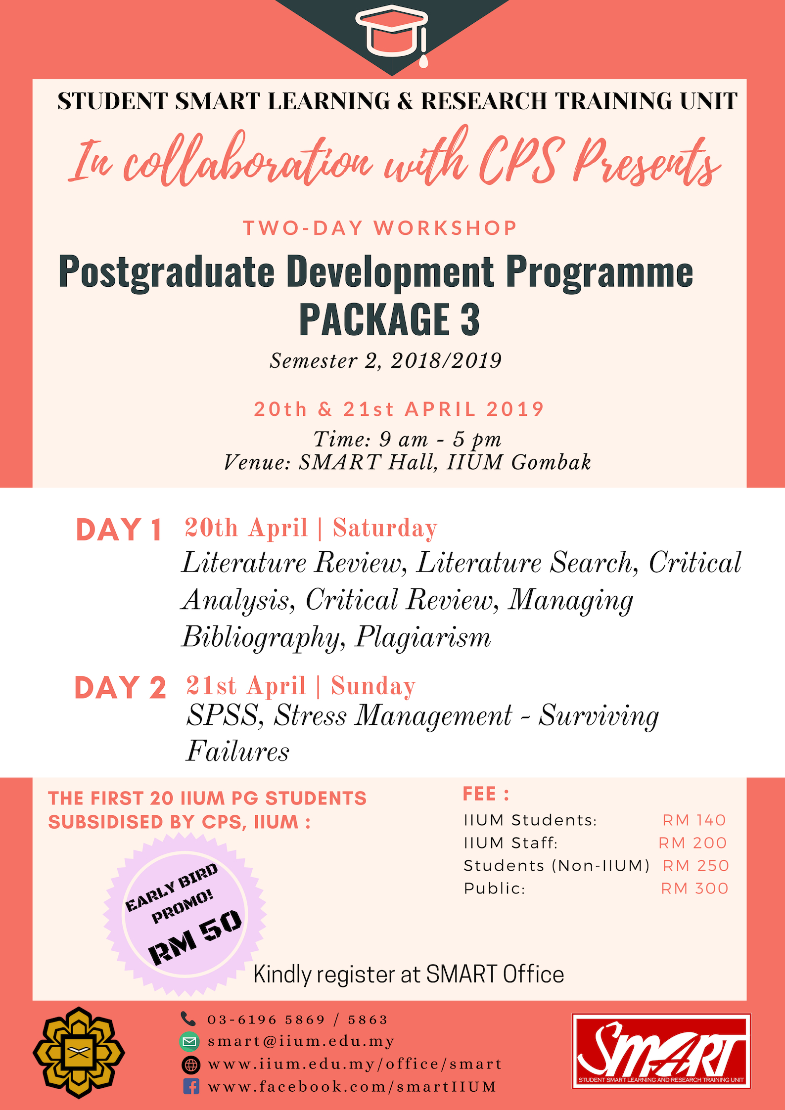 WORKSHOP : POSTGRADUATE DEVELOPMENT PROGRAMME PACKAGE 3