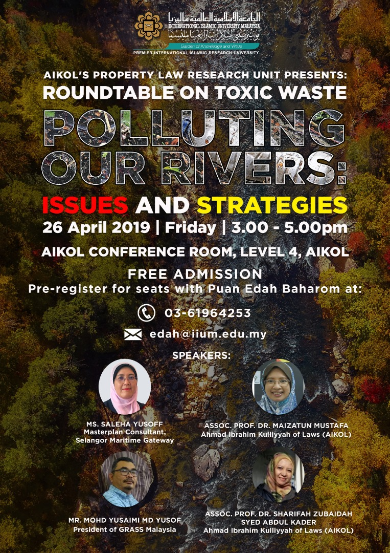 Roundtable on Toxic Waste - Polluting Our Rivers: Issues and Strategies