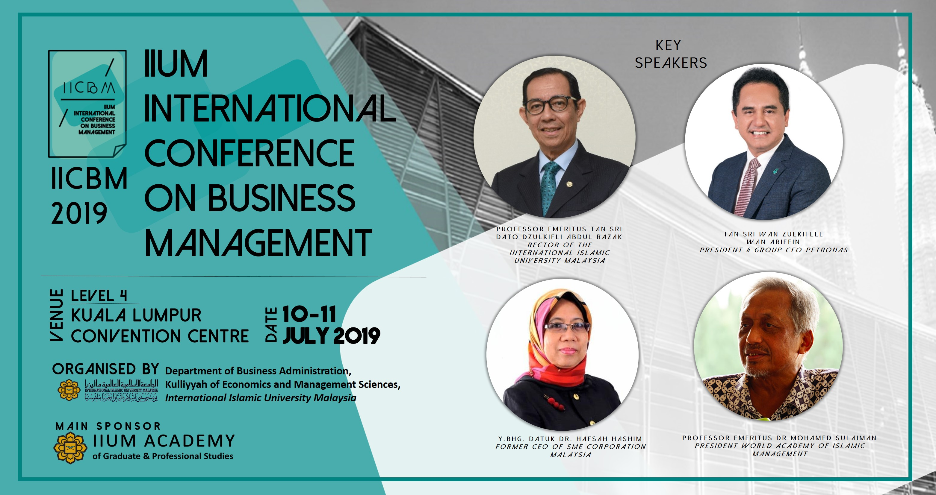 IIUM International Conference on Business Management (IICBM 2019)