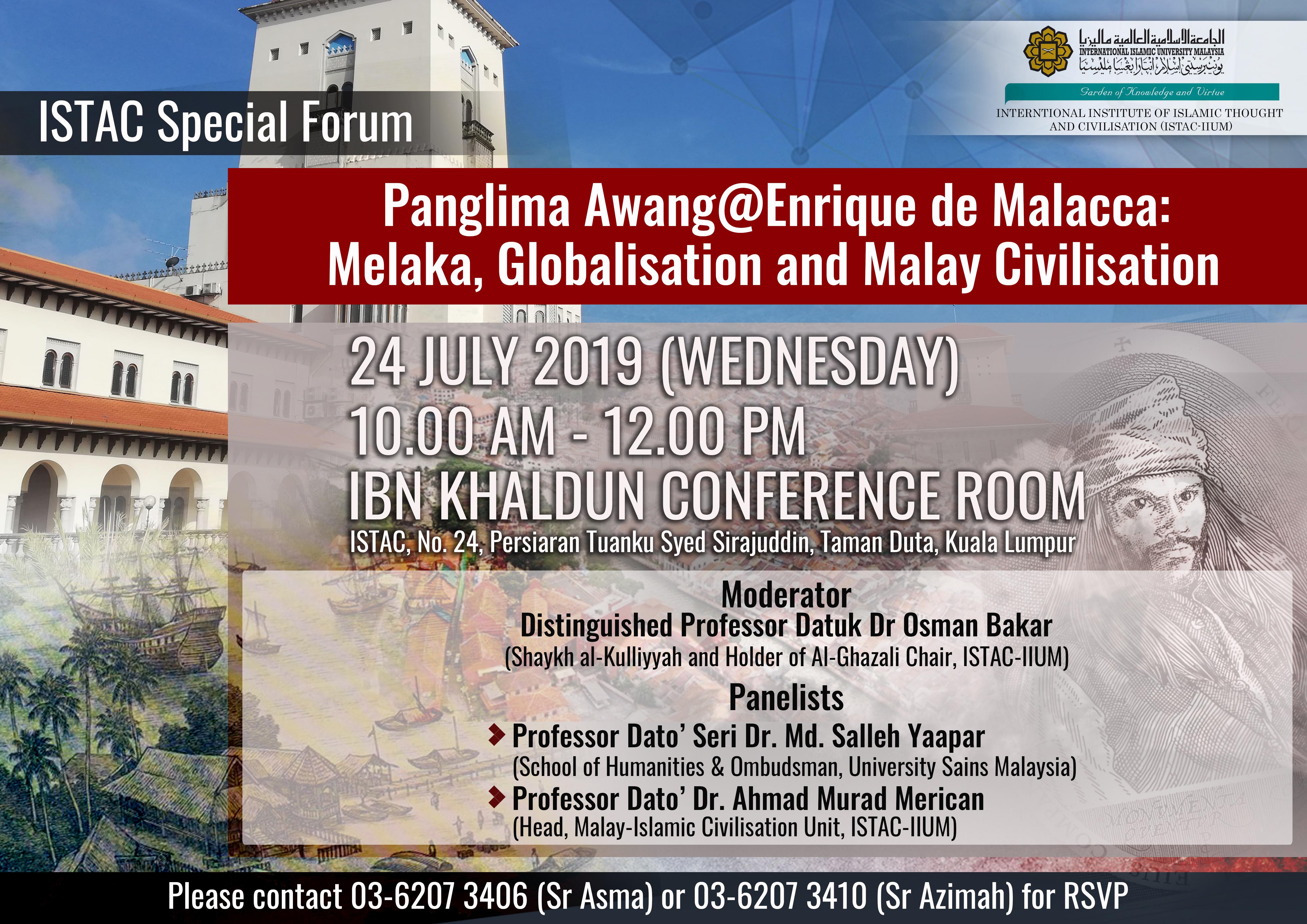 ISTAC SPECIAL FORUM: Panglima Awang@Enrique de Malacca: