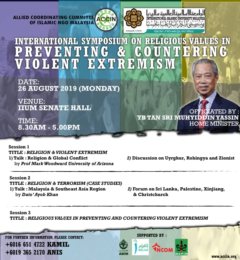 INTERNATIONAL SYMPOSIUM ON RELIGIOUS VALUES IN PREVENTING & COUNTERING VIOLENT EXTREMISM
