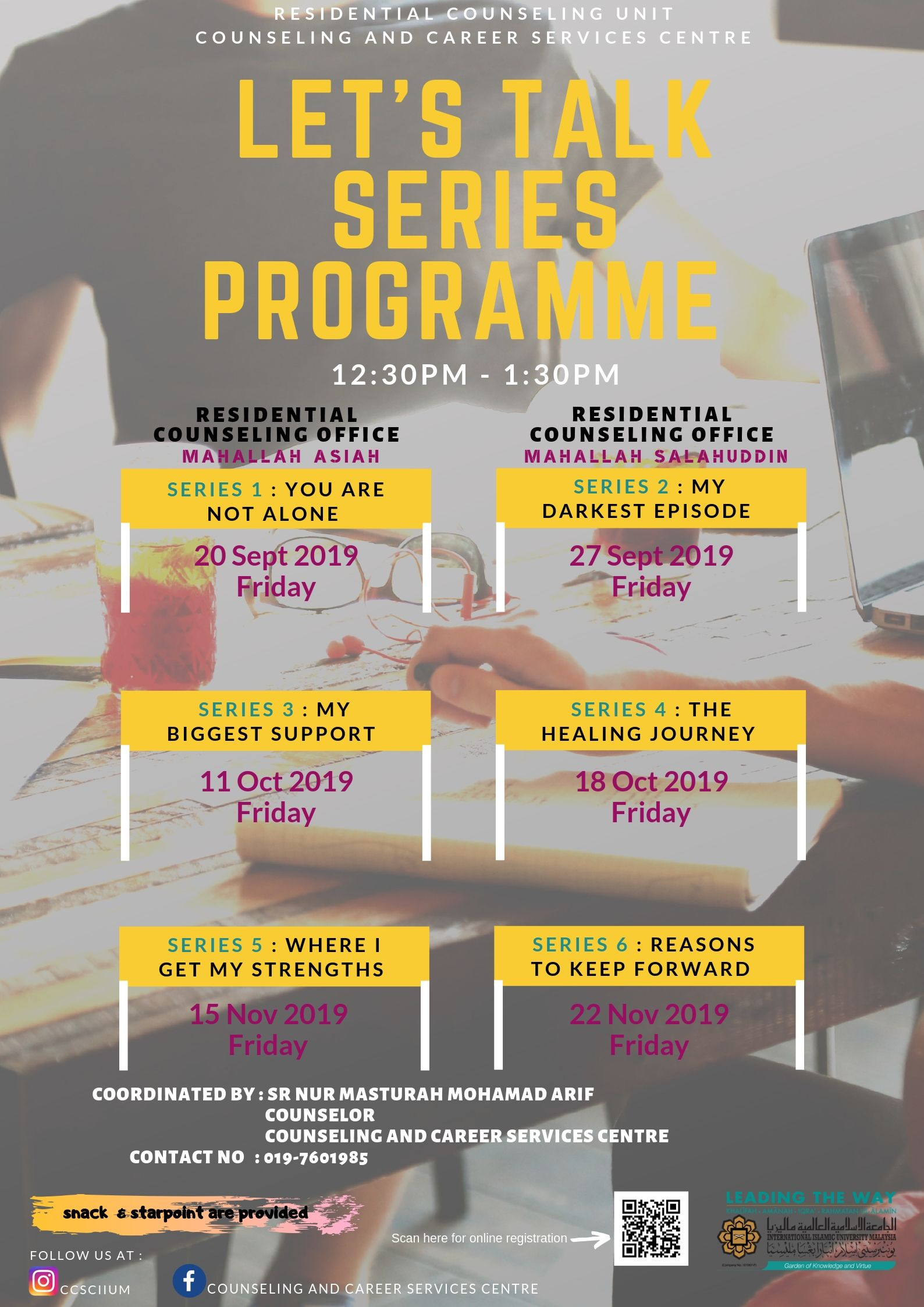 LET'S TALK SERIES PROGRAMME