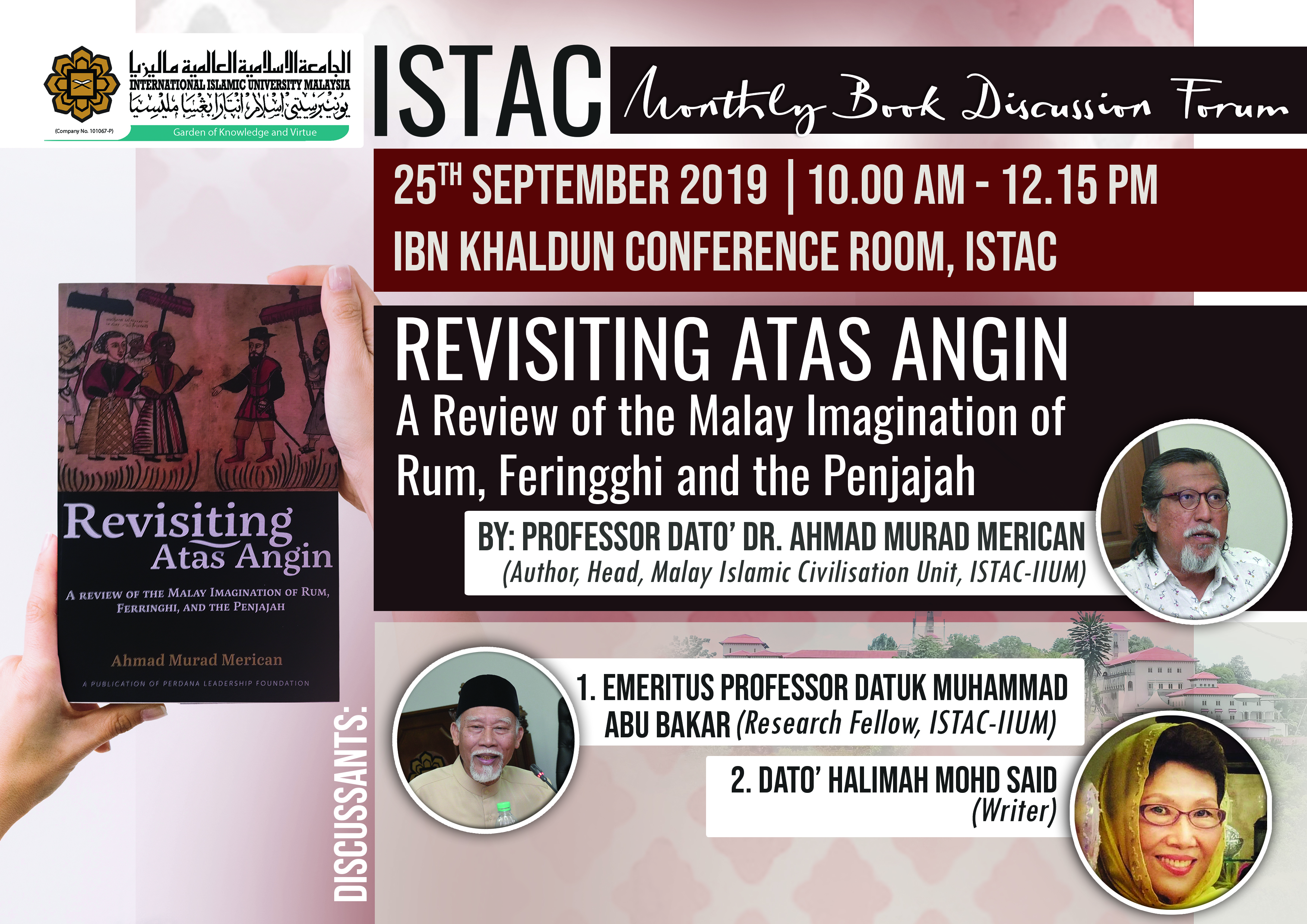 ISTAC MONTHLY BOOK DISCUSSION FORUM