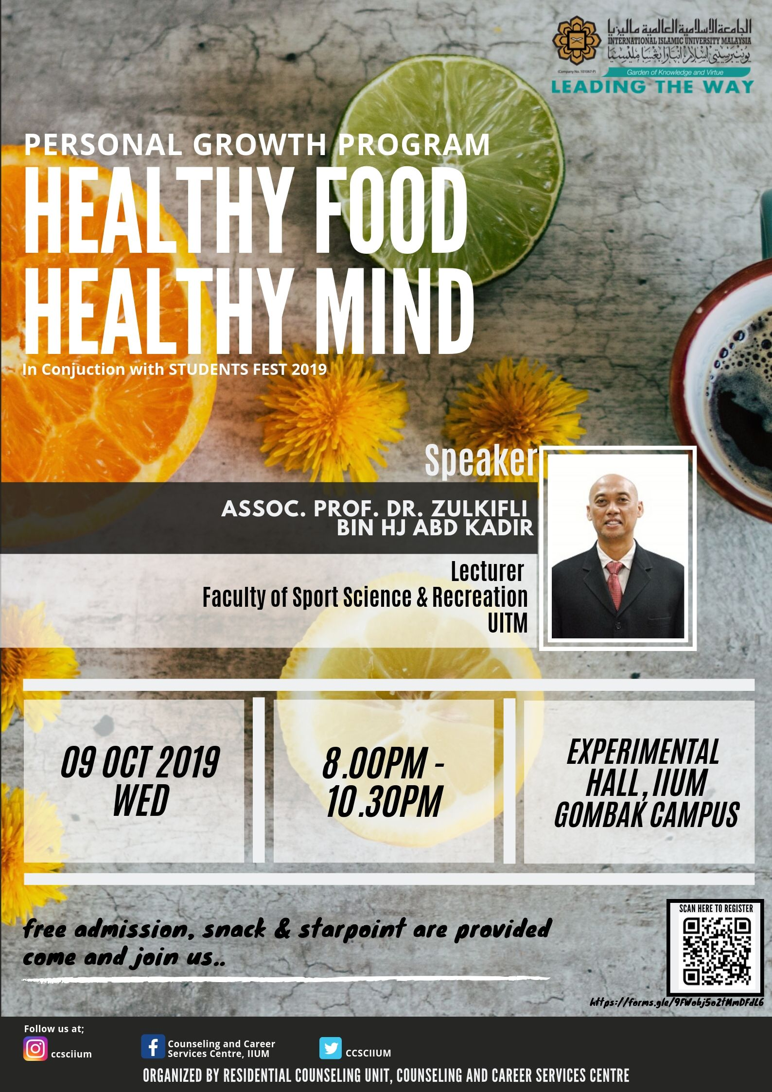 PERSONAL GROWTH GROUP : HEALTHY FOOD HEALTHY MIND