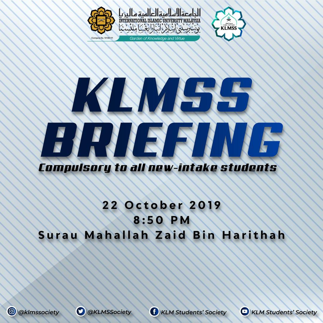 KLMSS Briefing