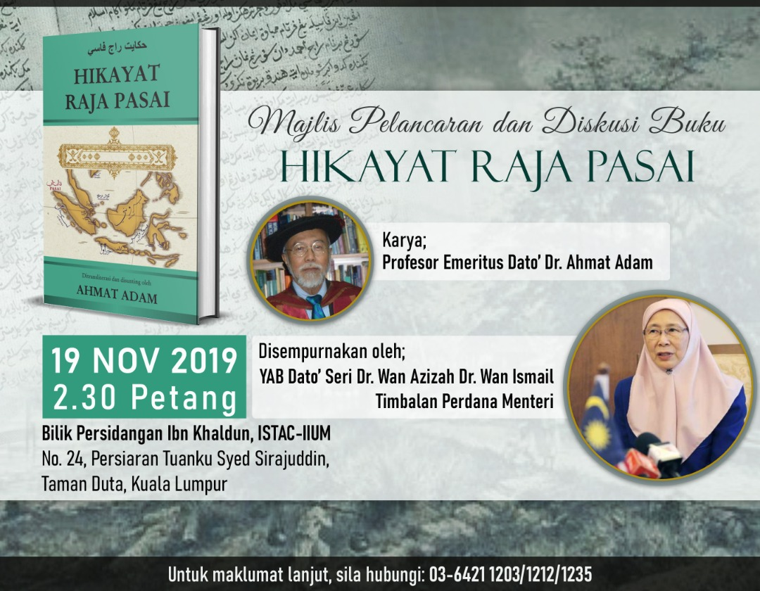Majlis Pelancaran dan Diskusi Buku 'HIKAYAT RAJA PASAI'