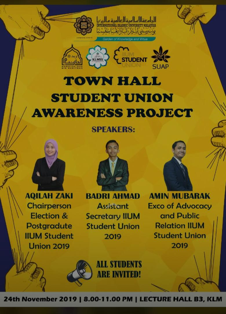 Town Hall Student Union Awareness Project