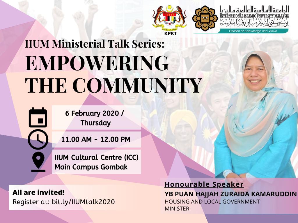 IIUM Miniterial Talak Series :  Empowering the Comunity