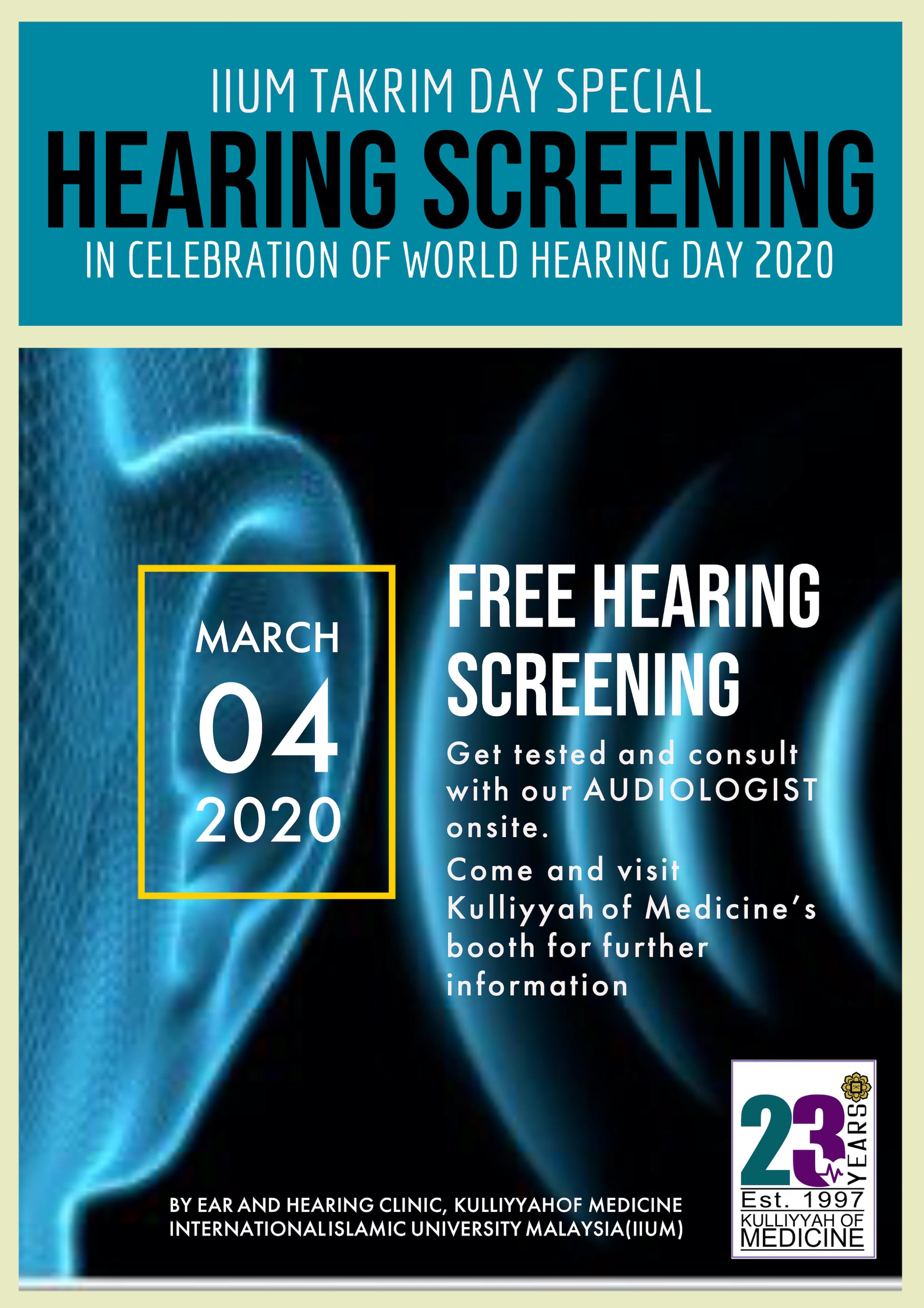 IIUM Takrim Day Special: Hearing Screening