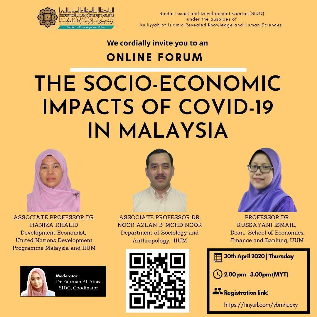 The Socio-Economic Impacts of COVID-19 in Malaysia